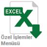 Excel Özel İşlemler Menüsü - Sağ Tuş